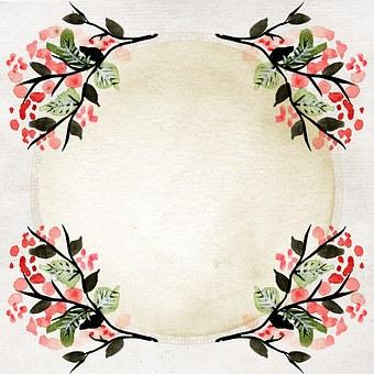Background, Scrapbook, Paper, Frame, Asian, Flowers