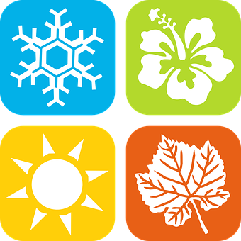 Season, Winter, Spring, Summer, Fall, Autumn, Snowflake