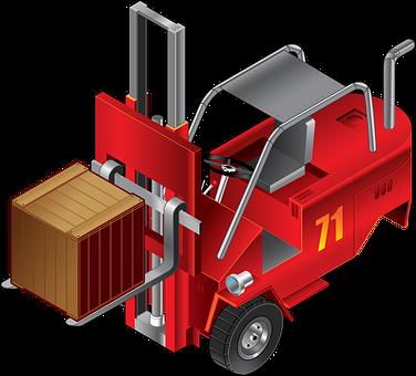 Forklift, Fork-lift Truck, Truck, Car, Elevator