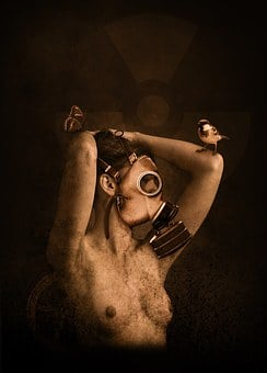 Woman, Gas Mask, Nuclear, Radioactivity