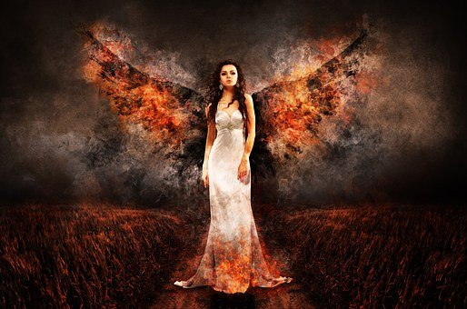 Angel, The Witch, Hell, Archangel, Luzifer, Woman, Wing