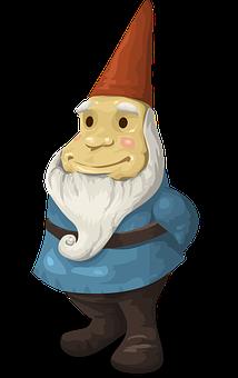 Gnome, Statue, Decoration, Dwarf, Elf, Troll, Beard