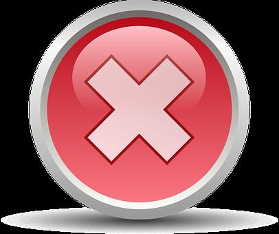 Cancel, No, Symbol, Sign, Wrong, Mark, Choice, Negative