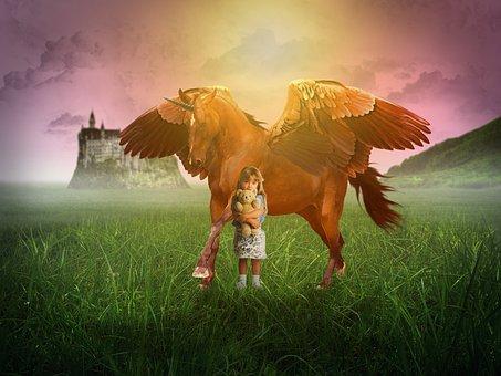 Unicorn, Dream, Fantasy, Design, Horse, Cartoon, Cute