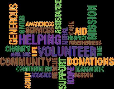 Volunteer, Charity, Cloud, Community, Fundraise