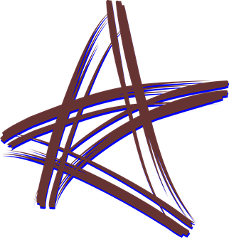 Brush, Five Point, Star, Cross