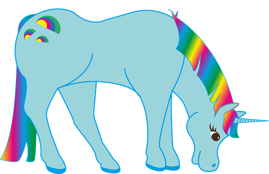 Rainbow, Unicorn, Fairy Tales, Fantasy, Colorful, Gaudy