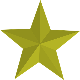 Five, Five-pointed Star, Gold, Gold Star, Pointed, Star