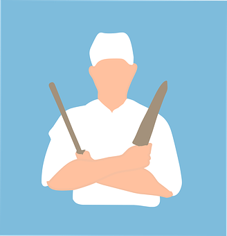 Chef, Front, Benefited, Grilling, Person, Restaurant