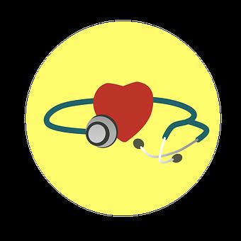 Heart, Stethoscope, Health, Illness, Examine