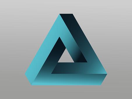 Logo, Penrose Triangle, Impossible, Vector, Illusion