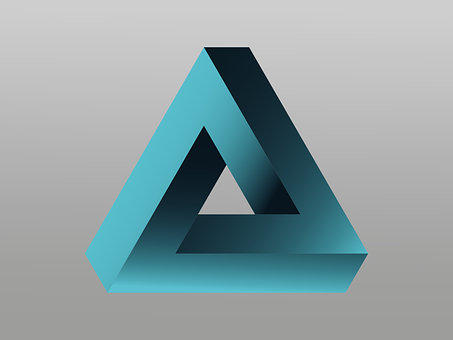 Logo, Penrose Triangle, Impossible, Vector, Illusion