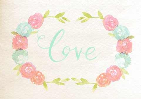 Sentiment, Card, Rose, Watercolor, Romantic, Message