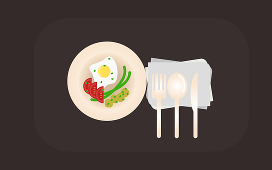 Food, Restaurant, Table, Spoon, Fork, Knife, Dish