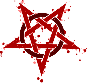 Pentagram, Rouge, Spot, Symbol, Pentalpha, Pentangle