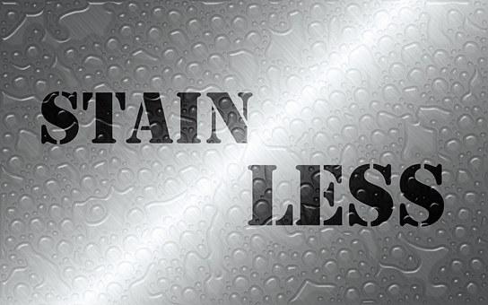 Stainless, Steel, Material, Word, Black Text, Rustproof