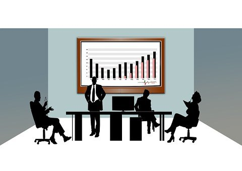 Cooperate, Finance, Economy, Office, Silhouettes, Desk