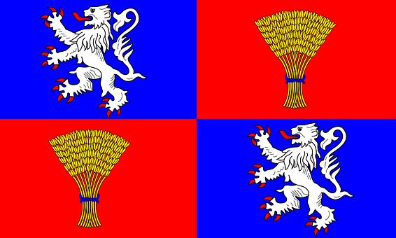 Flag Of Gascony, Flag, Heraldry, French, Franch