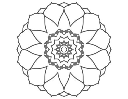 Coloring Page, Flower Drawing, Flower Image, Flower