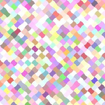 Mosaic, Colorful Pattern, Geometric, Floor, Background