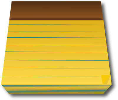 Legal Pad, Yellow, Paper, Blank, Office, Business, Note