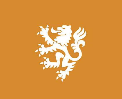 Lion, Heraldry, White, Orange, Course, Coat Of Arms
