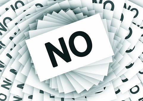 No, Negative, Cards, Spiral, Cancellation, Rejection