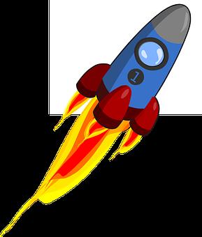 Alphabet Word Images, Animation, Cartoon, Flame, Rocket