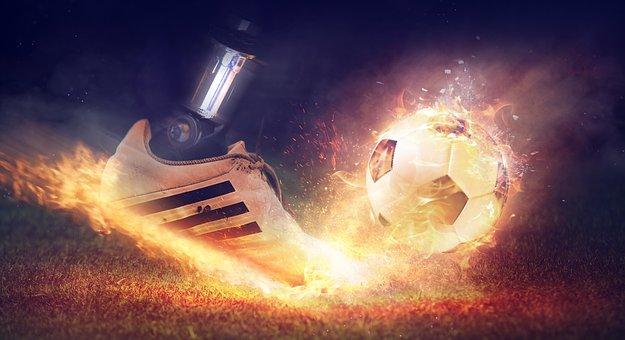 Football, Shoe, Football Boot, Sport, Ball, Rush