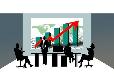 Economy, Cooperation, Silhouettes, Finance, Office