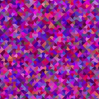 Multicolored, Mosaic, Curved, Geometric, Shape, Spin