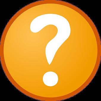 Question Mark, Info, Help, Orange, Round, Icon, Support