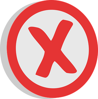 Negative, X, Unrelated, Sign, Choice, Symbol, Red, Vote