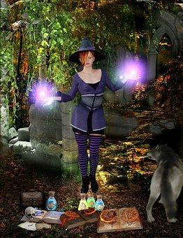 The Witch, Magic, Halloween, Atmosphere, Night, Scene