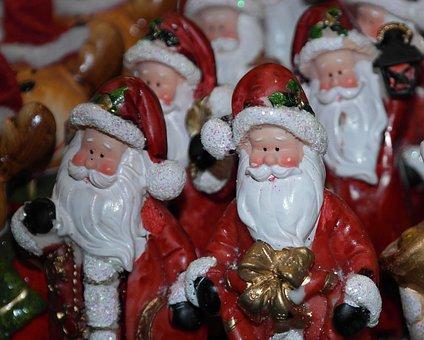 Santa Clauses, Nicholas, Advent, Christmas, Bart, White