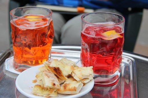 Beverages, Alcohol, Glass, Snack, Spritz, Campari