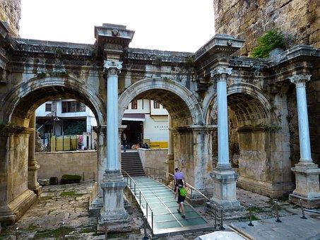 Hadrian's Gate, Antalya, Building, Turkey