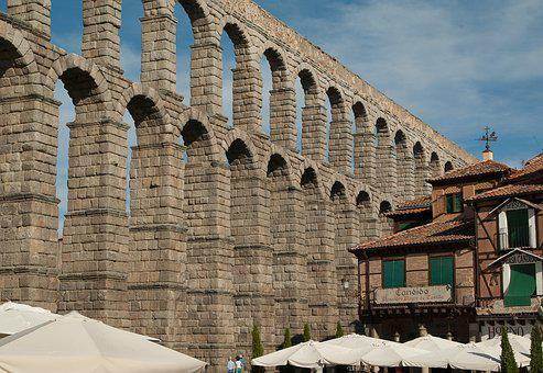 Spain, Segovia, Aqueduct, Irrigation