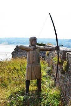 Archer, English Longbow, Figure, Sculpture, Armour