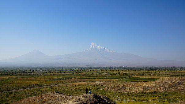 Ararat, Plain, Mountain, Chor Virap, Armenia, Farming