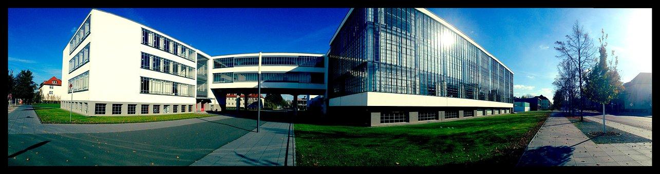 Building, Architecture, Bauhaus, Dessau, Germany