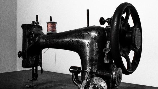Sewing Machine, Old, Antique, Retro, Vintage, Black