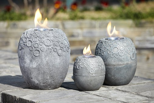 Brazier, Fire, Warm, Candle