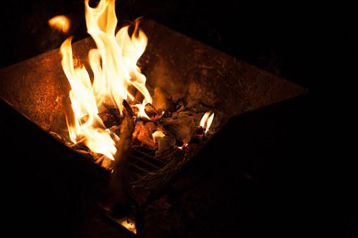 Camping, Fire Play, Brazier, Fire Place