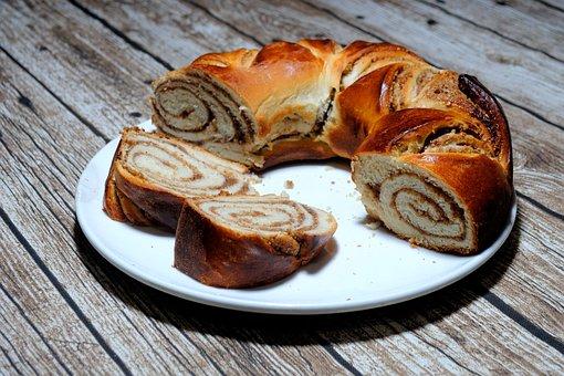 Walnut Braid, Bake, Cake, Delicious, Pastries, Eat