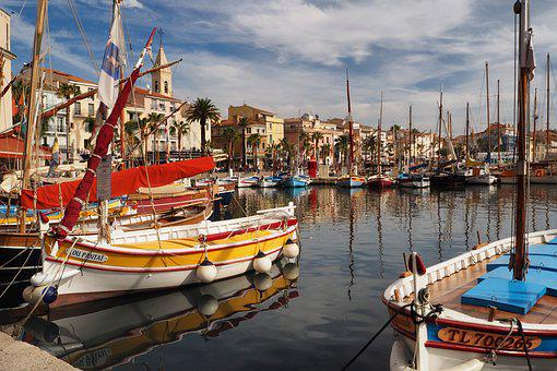 Port, Sanary Sur Mer, Sailing Boats, Boats, Coast