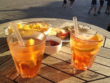 Sundowner, Cocktail, Aperol, Spritz, Evening Sun, Drink