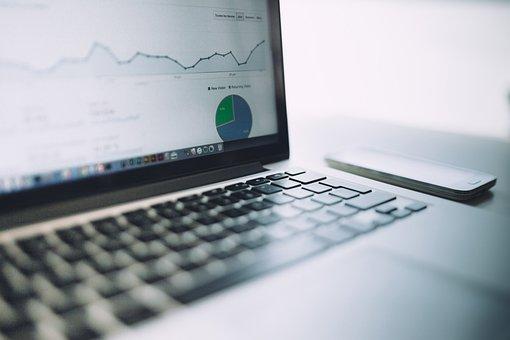 Analytics, Charts, Traffic, Marketing, Laptop, Computer