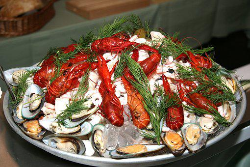 Seafood Platter, Crayfish, Mussels, Seafood