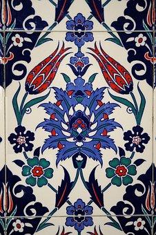 Tile, Ceramic, Earthenware, Turkey, Antalya